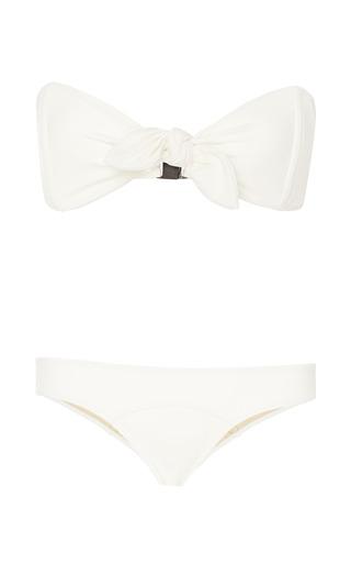Poppy Knotted Bandeau Bikini by LISA MARIE FERNANDEZ Now Available on Moda Operandi