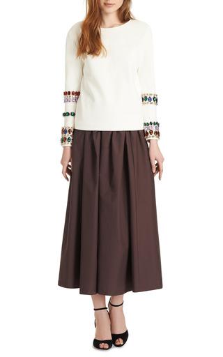 Isa Arfen - Bitter-Chocolate Full Cotton Skirt