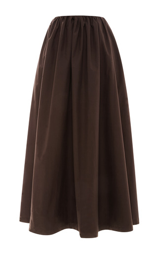 Bitter-Chocolate Full Cotton Skirt by Isa Arfen Now Available on Moda Operandi