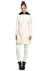 Mink-Trimmed Wool-Blend Hooded Coat by Valentino Now Available on Moda Operandi