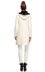 Mink Trimmed Wool Blend Hooded Coat by VALENTINO Now Available on Moda Operandi