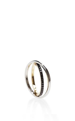 Tourbillon Gold, Black Diamond, and Yellow Sapphire Ring by Delfina Delettrez Now Available on Moda Operandi