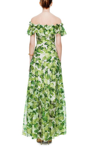 Printed Silk-Chiffon Dress by Isolda Now Available on Moda Operandi
