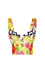 Printed Stretch-Cotton Cropped Top by Isolda Now Available on Moda Operandi