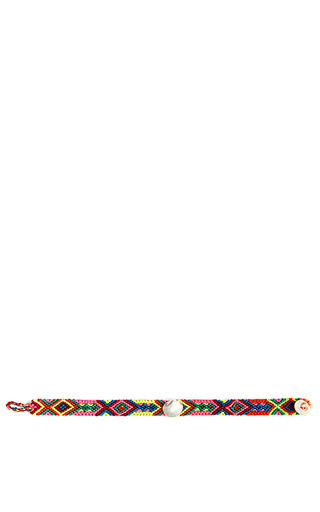 One Of A Kind Beaded Bracelet With Seashell Detail by DEZSO BY SARA BELTRÀN Now Available on Moda Operandi