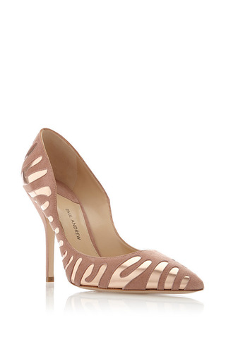 Paul Andrew - M'O Exclusive: Tigrado Suede and Metallic-Leather Pumps