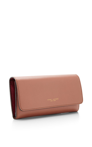 Double Groove Leather Wallet by Marc Jacobs for Preorder on Moda Operandi