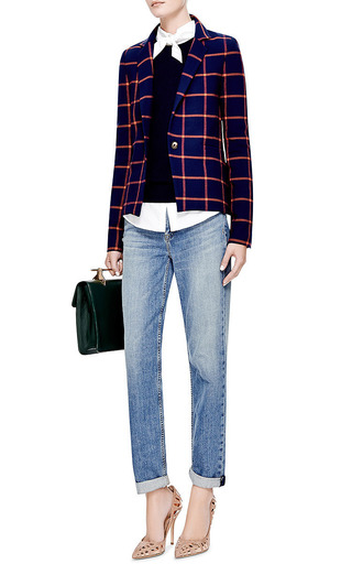 Checked Wrap-Back Blazer by Thakoon Addition Now Available on Moda Operandi