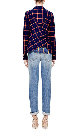 Checked Wrap-Back Blazer by Thakoon Addition for Preorder on Moda Operandi