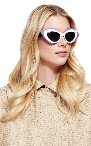 + Prabal Gurung Cat-Eye Acetate Sunglasses by Linda Farrow Now Available on Moda Operandi