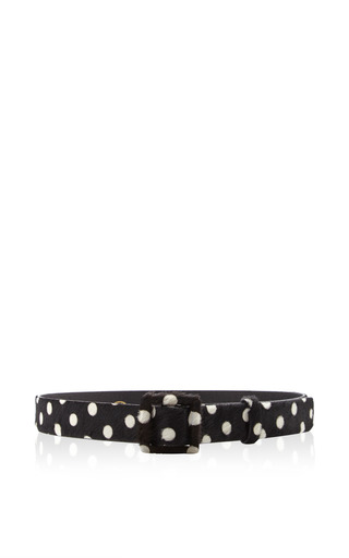 Pony-Hair Square-Buckle Belt by Oscar de la Renta Now Available on Moda Operandi