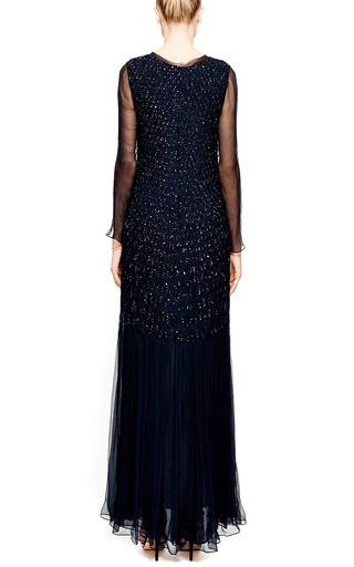 Embellished Silk-Chiffon Smocked Gown by Oscar de la Renta Now Available on Moda Operandi