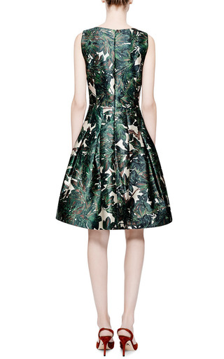 Embroidered Silk-Blend Mikado Dress by Oscar de la Renta Now Available on Moda Operandi