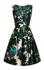Embroidered Silk-Blend Mikado Dress by Oscar de la Renta Now Available on Moda Operandi