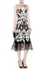 Oscar de la Renta - Lace-Trimmed Embellished Tulle Dress