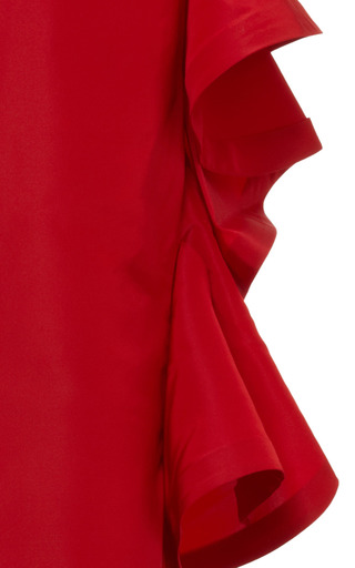 Strapless Ruffle-Back Silk Gown by Oscar de la Renta Now Available on Moda Operandi