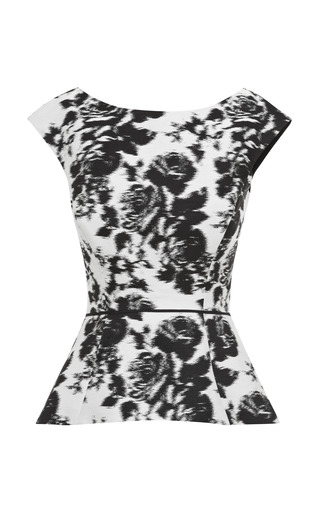 Jacquard Silk Two-Piece Dress by Oscar de la Renta Now Available on Moda Operandi