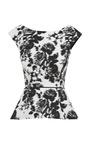Jacquard Silk Two-Piece Dress by Oscar de la Renta Now Available on Moda Operandi