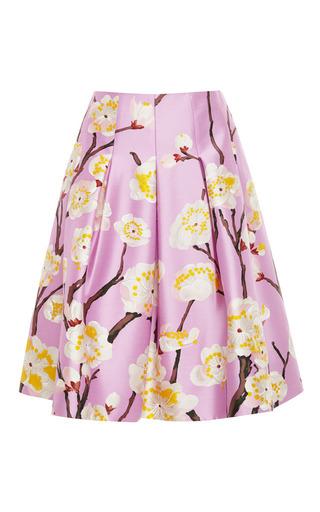 Floral-Print Pleated Skirt by Oscar de la Renta for Preorder on Moda Operandi