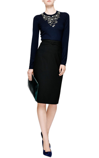 Oscar de la Renta - Pencil Skirt With Waist Detail