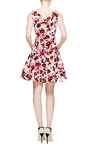 Sleeveless V Neck Cross Back Dress by OSCAR DE LA RENTA Now Available on Moda Operandi
