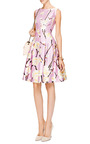 Oscar de la Renta - Floral-Print Silk-Blend Dress