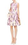 Floral-Print Silk-Blend Dress by Oscar de la Renta for Preorder on Moda Operandi