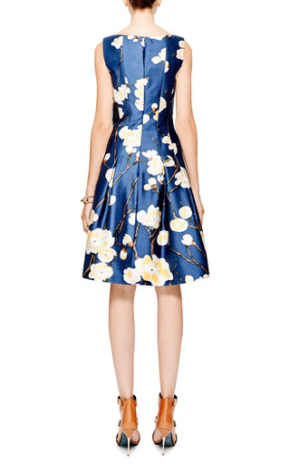 Floral-Print Silk-Blend Dress by Oscar de la Renta for Preorder on Moda Operandi