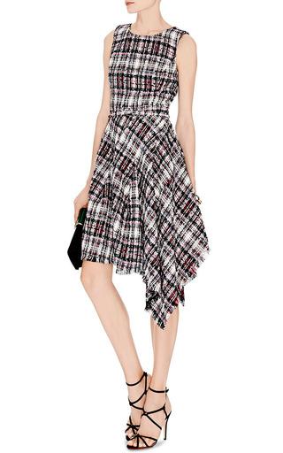 Asymmetric-Hem Tweed Dress by Oscar de la Renta Now Available on Moda Operandi