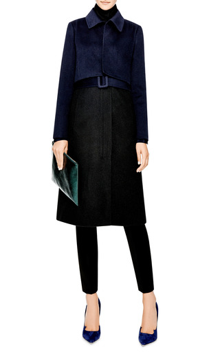 Wool-Blend Tromp L'Oeil Coat by Oscar de la Renta Now Available on Moda Operandi