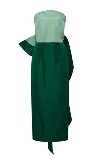 Silk-Faille Bow-Back Dress by Rosie Assoulin Now Available on Moda Operandi