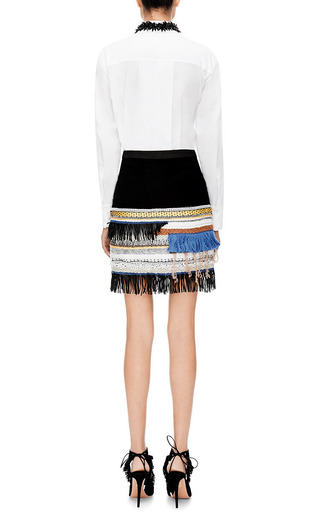 Embellished Suede Skirt by Derek Lam 10 Crosby Now Available on Moda Operandi