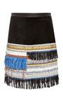 Derek Lam 10 Crosby - Embellished Suede Skirt