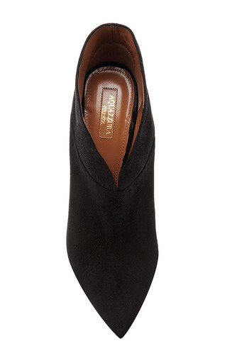 Inga Suede Ankle Boots by Aquazzura Now Available on Moda Operandi