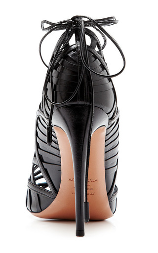 Lola Lace-Up Leather Sandals by Aquazzura Now Available on Moda Operandi