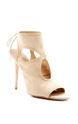 Aquazzura - Sexy Thing Lace-Up Suede Sandals