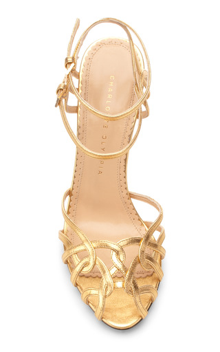 Ursula Metallic Leather Sandals by Charlotte Olympia Now Available on Moda Operandi