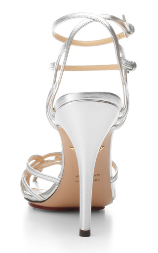 Charlotte Olympia - Ursula Metallic Leather Sandals