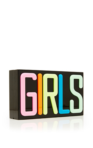 GIRLS Pandora Perspex Clutch by Charlotte Olympia for Preorder on Moda Operandi