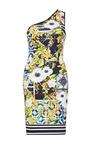 Clover Canyon - Printed Neoprene Asymmetric Dress