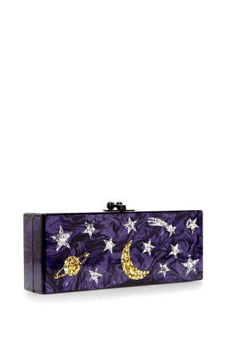 Flavia Solar System Glitter Acrylic Clutch by Edie Parker Now Available on Moda Operandi