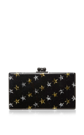 Jean Stars Glitter Acrylic Clutch by EDIE PARKER Now Available on Moda Operandi