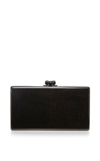 Jean Hearts Glitter Acrylic Clutch by Edie Parker Now Available on Moda Operandi