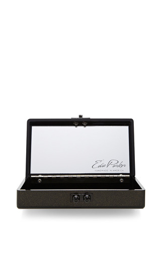 Jean Hearts Glitter Acrylic Clutch by Edie Parker Now Available on Moda Operandi