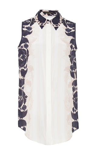 Umiko Printed Crepe de Chine Top by Mother of Pearl Now Available on Moda Operandi