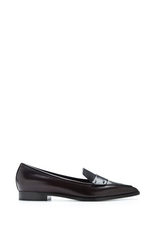 Two-Tone Polished Leather Penny Loafers by Nicholas Kirkwood Now Available on Moda Operandi