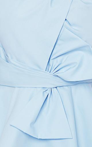Draped-Bow Cotton Peplum Top by Prabal Gurung Now Available on Moda Operandi