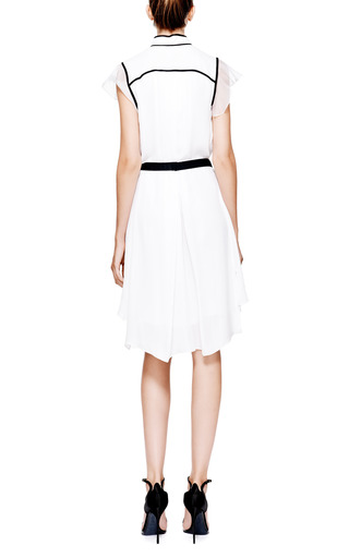 Pleat-Front Silk-Chiffon Dress by Prabal Gurung Now Available on Moda Operandi