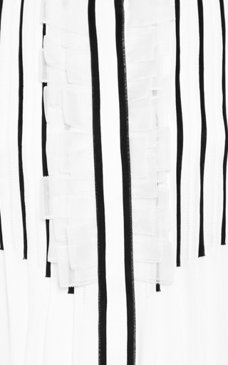 Pleat-Front Silk-Chiffon Dress by Prabal Gurung Now Available on Moda Operandi