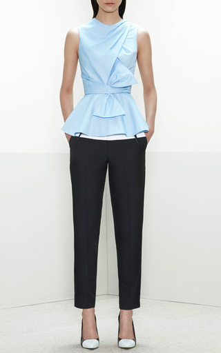 Leather-Inset Cropped Pants by Prabal Gurung Now Available on Moda Operandi